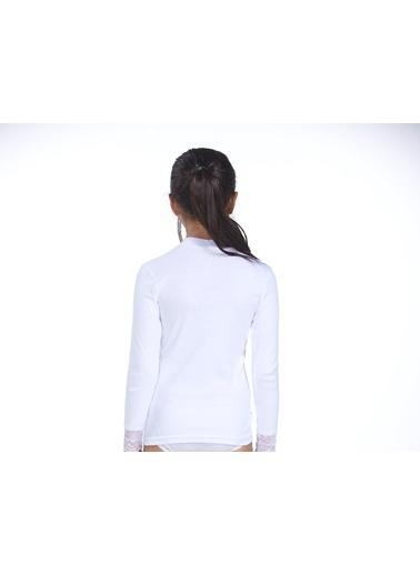 2'Li Ribana Dantelli Kız Çocuk T-Shirt-Zeyzey